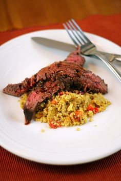 Served with Quinoa. 1 1/2 lb flank steak 1 1/2 tbsp butter 1 shallot ...