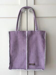 Tutorial : How to make a faux sheepskin bag / tote