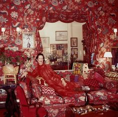 Diana Vreeland in the red room