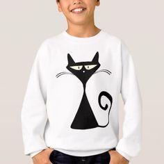 black cat sweatshirt - Halloween happyhalloween festival party holiday