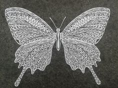 Papercut Butterfly by MerelyMary.deviantart.com on @DeviantArt