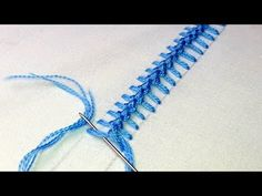 Hand Embroidery : Knotted Pearl Stitch | border line embroidery tutorial # 80. - YouTube