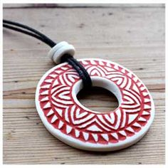 Gorgeous ceramic pendant.