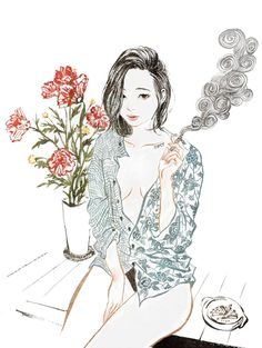"frrmsd: "" Artist & Illustrator: Zipcy 집시 [ Eungyo (2013) ] Brush Pen + Photoshop CS5 "" ""영화 은교를 보고나서- 순수함과 청초함 이면의 교활한 외로움이 어우러져 묘한 매력을 자아내던 그녀.[ Eungyo (2013) ]"" """