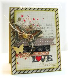 Love, always | Random Acts of Creativity featuring Wplus9 stamps.