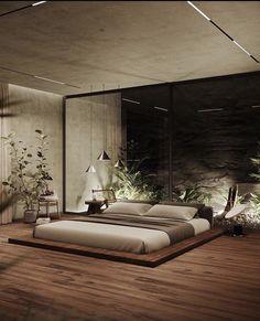 Modern Luxury Bedroom, Luxury Bedroom Design, Bedroom Bed Design, Modern Bedroom Decor, Home Room Design, Dream Home Design, Luxurious Bedrooms, Home Bedroom, House Design