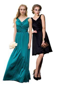 Long dress to short dress
