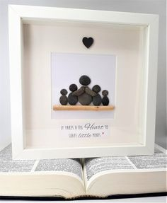 Regalo del maestro - Cornish Pebble Art Picture A gorgeous handcrafted picture in a white box frame x created using Cornish seaside pebbles and local driftwood. As each picture is made to order, the pebbles and driftwood will differ slightly t Stone Crafts, Rock Crafts, Pebble Pictures, Art Pictures, Presents For Teachers, Christmas Gifts For Teachers, White Box Frame, Diy Gifts, Handmade Gifts