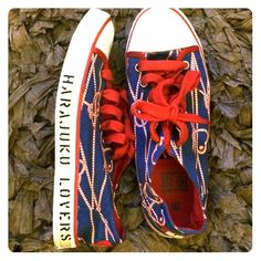 Harajuku Lovers Shoes - Harajuku Lovers red, white and blue sneakers