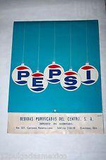 "PEPSI 1971 religious MEXICO promo calendar 12""x15""mega rare latin america"