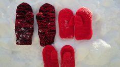 Pjonet og heklet votter Gloves, Winter, Winter Time, Winter Fashion, Mittens