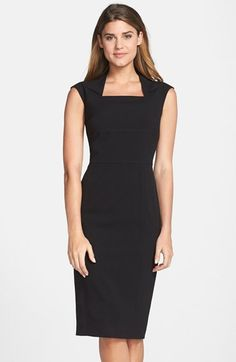 Marc+New+York+by+Andrew+Marc+Fold+Collar+Midi+Dress+available+at+#Nordstrom