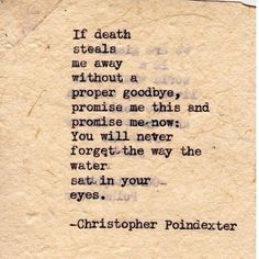 """ Their tears were their love "" Series poem #1  Christopher Poindexter"