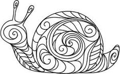 Doodle Snail | Urban Threads: Unique and Awesome Embroidery Designs