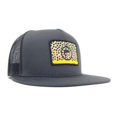Description - Size   Fit Premium Quality - Fly Fishing Trucker Hat Straight  Brim Head 163eed6b46b6