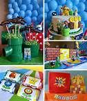 """Super Mario Themed Birthday Party Blue Green Red Kids Theme Boy Send us a message if you want to pin on our """"Favorite Old Video Games"""" board and wel'l add you! Super Mario Party, Bolo Super Mario, Super Mario Birthday, Mario Birthday Party, 6th Birthday Parties, 7th Birthday, Birthday Ideas, Happy Birthday, Party Fiesta"""