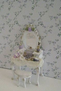 Vanity for your shabby chic doll house from Etsy