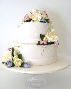 #white #yellow and #pink wedding cake made by Gillian Bell cake girl. #organic #wedding #cake http://www.cakegirl.com.au/ #Brisbane