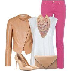 Consigli di stile - Look rosa e sabbia