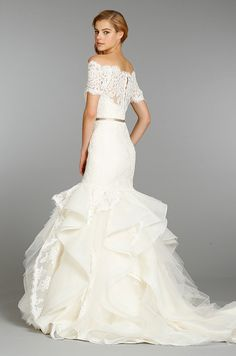 Hayley Paige, Fall 2013.... Wow, I think I love this dress cuz it's so unique