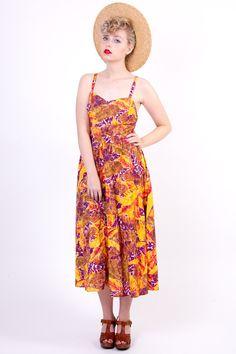 Tropical vintage dress 14/42 hawaii exotic  w Vintage For Ever  na DaWanda.com Aloha Hawaii, Vintage Dresses, Exotic, Tropical, Summer Dresses, Etsy, Fashion, Vintage Gowns, Summer Sundresses