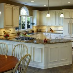 White kitchen cabinets may easily reveal dirt, cooking oil or. Light Kitchen Cabinets, Kitchen Redo, New Kitchen, Kitchen Remodel, Kitchen Dining, White Cabinets, Kitchen Ideas, Cocinas Kitchen, Updated Kitchen