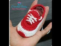Tênis ICARO de crochê - Tamanho 09 cm - Crochet Baby Yara Nascimento - YouTube