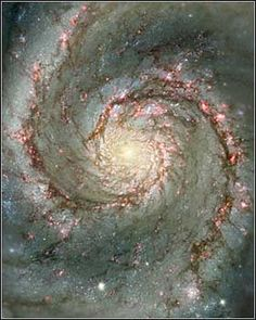 A composite image of M51, called the Whirlpool Galaxy, 30 million light years from Earth and 60 thousand light years across. The original images were taken with a telescope at Kitt Peak National Observatory, and the Hubble Space Telescope. (Photo: NASA via The Telegraph)