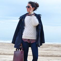 Fall Fashion 2015. Preppy, plaid and layers with a gorgeous parka. ::M::