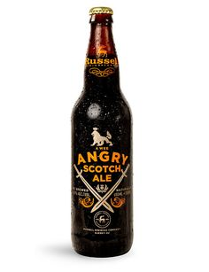 Russell Brewing's Angry Scotch Ale Bottle