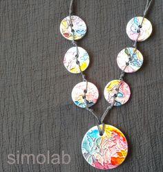Collana in argilla sintetica con farfalle : Collane di simolab