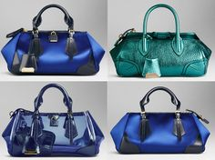 Blue Burberry bags from Spring/Summer 2013 to beat post Valentine Day's blues