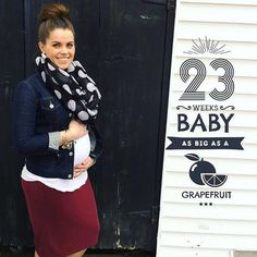 #23weeks Baby Liam is as big as a grapefruit  @kaylea_mcilwaine shared  with our 'Fruits' artwork TO BE FEATURED HERE  tag photos made with @BabyStoryApp #BabyStoryApp