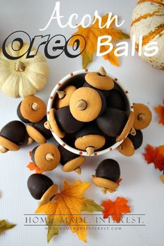 Acorn OREO cookie balls are simple to make all you need is OREO cookies, cream cheese, and melted chocolate to make a delicious OREO truffles.