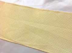 Yellow Gingham Trim  1/4 in squares   3  inches wide    2 yards