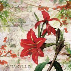 4448 Servilleta decorada Flores