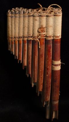 ancientart:  Pre-Columbian Chancay Pan Pipes. Peru, 800-1200 AD. Courtesy edgarlowen