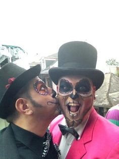 Brian Fontenot and Richard Fuentes during Mardi Gras in New Orleans