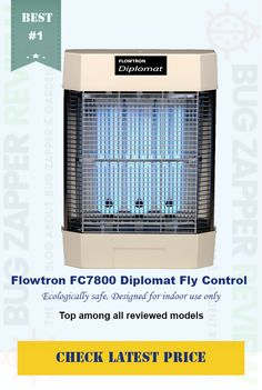 #Flowtron FC7800 Diplomat Commercial Fly Control *120 watts uv lure power covers up to 2,000 square feet *Indoor wall mount only *Removable collection tray *Replacement Bulb: Flowtron BF130