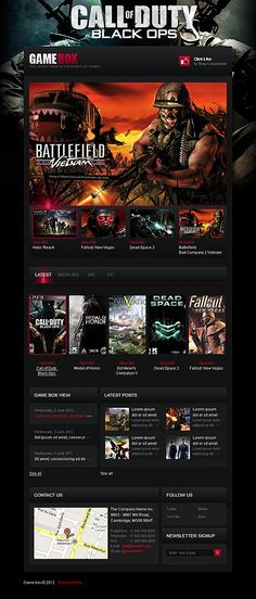 42 best Gaming Web Templates images on Pinterest | Website template ...