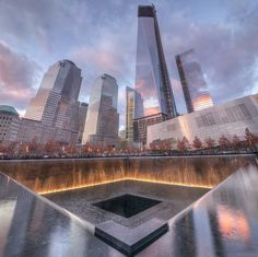 Ground Zero Memorial - New York City - Construction began in 2006. The memorial opened on September 11, 2011 and the 110,000 sq ft museum opened May 15, 2014, The memorial features 2,983 names - the North Pool (Flight 11 & WTC North Tower) & the South Pool (WTC South Tower, 1st responders, Pentagon & Flights 175, 77 & 93.)