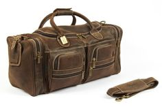 Claire Chase Executive Sports Leather Travel Duffel