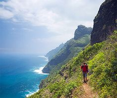 Kalalau trail. Even in the rain and very slippery and muddy conditions, this was an amazing hike!
