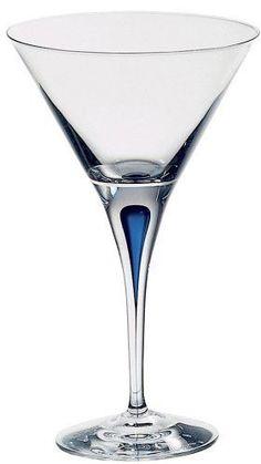 Intermezzo Blue Martini Glass Single Color Drop 6257455 #Orrefors