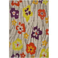 Found it at Wayfair - Nanette Gray/Orange/Purple Area Rug
