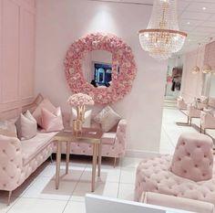 "Lynda Correa 💕: ""Pretty in pink! Calm and serene 💕 by Beauty Room Decor, Beauty Salon Decor, Boutique Decor, Boutique Interior, Schönheitssalon Design, Living Room Decor, Bedroom Decor, Bedroom Signs, Bedroom Ideas"