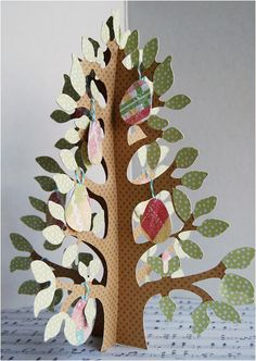 Make your own #Cricut paper tree