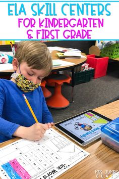 The best ELA digital centers to practice word families, vowels, digraphs, blends, syllables, CVC words and more! You will love these prep-free center activities.