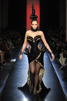 Jean Paul Gaultier Goes Gaudy This Fall With Swarovski Crystals and Animal Prints