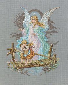 Cheryl's doing a great job! Janlynn Cross Stitch Kit, 8.125-Inch by 7-1/2-Inch, Guardian Angel